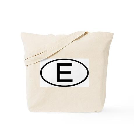 Spain - E - Oval Tote Bag
