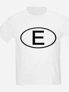 Spain - E - Oval Kids T-Shirt