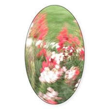Fancy Flowers Oval Decal