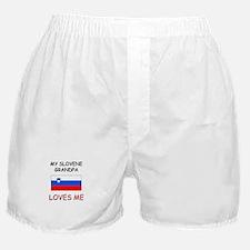 My Slovene Grandpa Loves Me Boxer Shorts