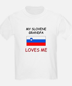 My Slovene Grandpa Loves Me T-Shirt
