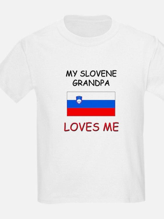My Slovene Grandpa Loves Me T-Shirt