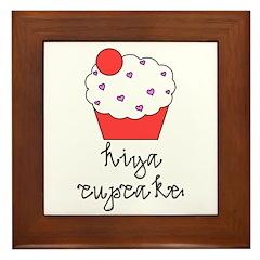 Hiya Cupcake Framed Tile