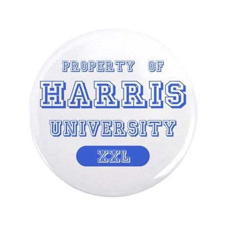 "Property of Harris University 3.5"" Button (100 pac"