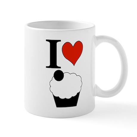 I Heart Cupcake Square Mug