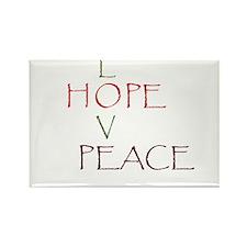 Love Hope Peace Rectangle Magnet