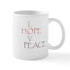 Love Hope Peace Mug