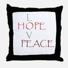 Love Hope Peace Throw Pillow