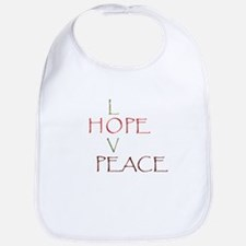 Love Hope Peace Bib
