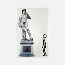 Stickfigure in admiration Rectangle Magnet