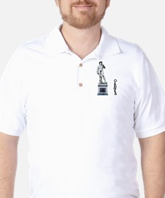 Stickfigure in admiration Golf Shirt