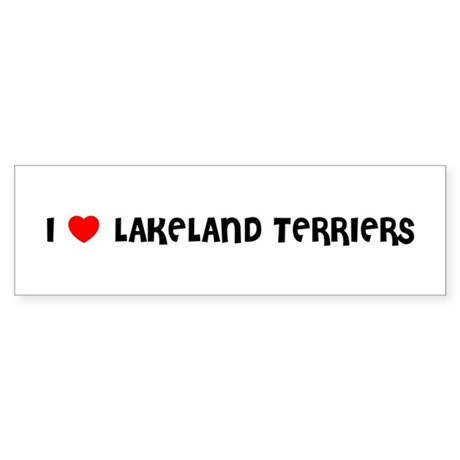 I LOVE LAKELAND TERRIERS Bumper Sticker