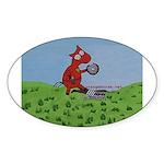 Law Enforcement Oval Sticker