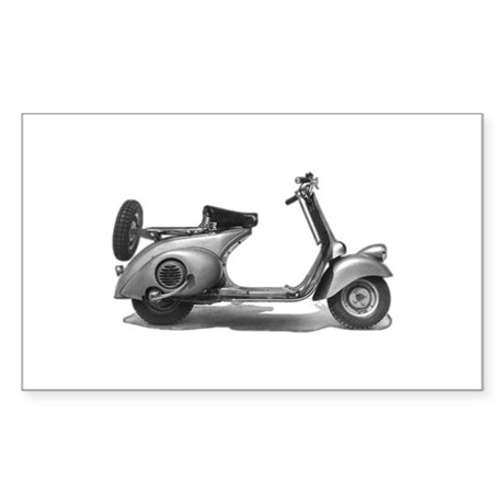 Vespa Fenderlight Rectangle Sticker