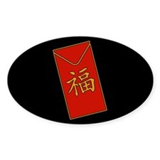 Red Packet Oval Decal