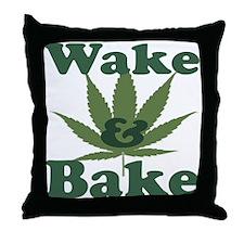 Wake and Bake Throw Pillow