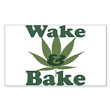 Wake and Bake Rectangle Decal