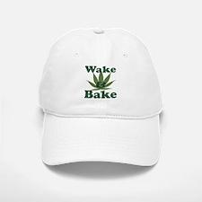 Wake and Bake Baseball Baseball Cap