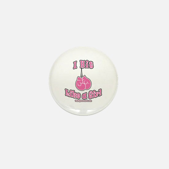 I HIT LIKE A GIRL Mini Button