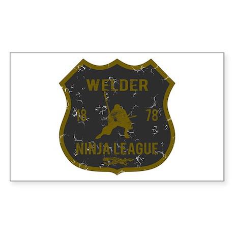 Welder Ninja League Rectangle Sticker