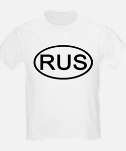 Russia - RUS - Oval Kids T-Shirt