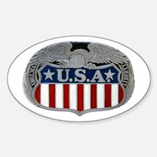 Victory and Liberty Eagle Oval Decal