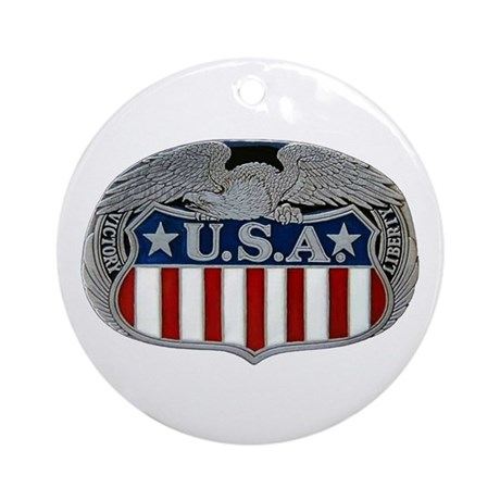 Victory and Liberty Eagle Ornament (Round)