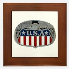 Victory and Liberty Eagle Framed Tile