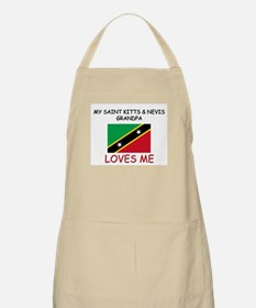 My Saint Kitts & Nevis Grandpa Loves Me BBQ Apron