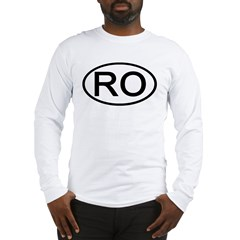 Romania - RO - Oval Long Sleeve T-Shirt