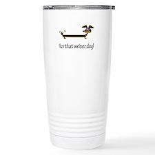 Love That Weiner Dog Travel Mug