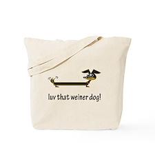 Love That Weiner Dog Tote Bag
