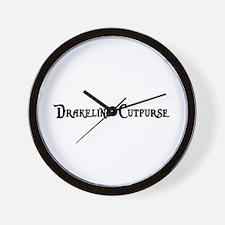 Drakeling Cutpurse Wall Clock