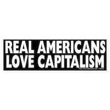 Real Americans Love Capitalism Bumper Sticker