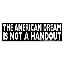 The American Dream v2 Bumper Bumper Sticker
