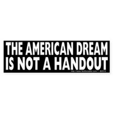 The American Dream v2 Bumper Sticker