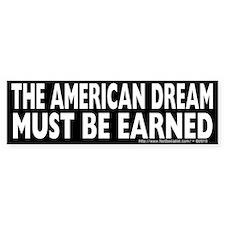 The American Dream v1 Bumper Bumper Sticker