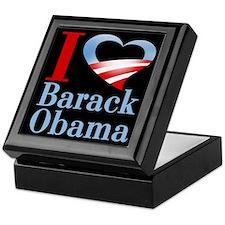 I Heart Barack Obama (black) Keepsake Box