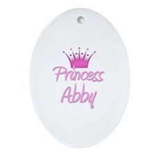 Princess Abby Oval Ornament