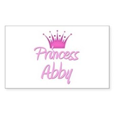 Princess Abby Rectangle Decal