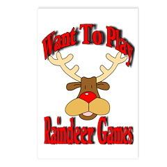 Raindeer Christmas Postcards (Package of 8)