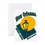 New Orleans Bourbon Street Greeting Cards