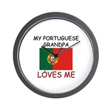 My Portuguese Grandpa Loves Me Wall Clock