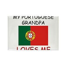 My Portuguese Grandpa Loves Me Rectangle Magnet