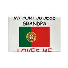 My Portuguese Grandpa Loves Me Rectangle Magnet
