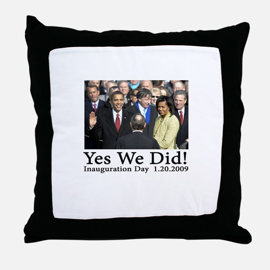 Yes We Did! Throw Pillow
