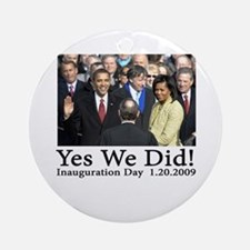 Yes We Did! Ornament (Round)