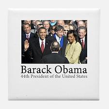Barack Obama, 44th President Tile Coaster
