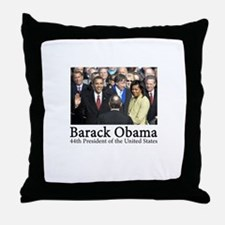 Barack Obama, 44th President Throw Pillow