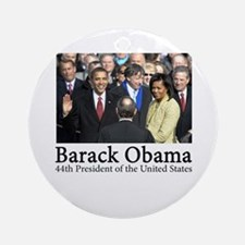 Barack Obama, 44th President Ornament (Round)